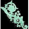 Jade Emerald Filigree Swirl Vine - Illustrations -