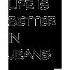 Jeans text - Texts -