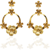 Jennifer Behr Freya Floral Plated Hoop E - Earrings -