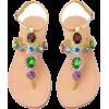 Jeweled flip flops - Japonki -