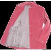 Jil Sander Pink Velvet Blazer - Marynarki -