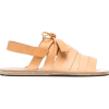 Jil Sander lace-detail leather sandals - Sandálias -
