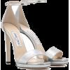 Jimmy Choo Misty 120 Silver Sandal - Sandals - $850.00