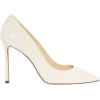 Jimmy Choo Romy White Patent Leather Pum - Flats - $595.00
