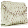 Jimmy Choo Callie Embroidered Satin Top - Clutch bags -