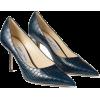 Jimmy Choo LOVE 85 Navy Croc - Classic shoes & Pumps - 525.00€  ~ £464.56