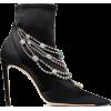 Jimmy Choo LYJA 100 Black Stretch Satin - Boots -