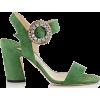 Jimmy Choo Mischa Suede Sandals - Sandals - £695.00  ~ $914.46