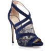 Jimmy Choo Navy Lace Sandal - Sandals -
