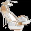 Jimmy Choo Silver Sandals - Sandale -