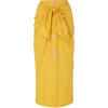 Johanna Ortiz Fresh Lemon Ruched Midi Sk - Skirts - $385.00