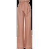 Johanna Ortiz Pink Pink Linen Pants - Spodnie Capri -