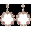 Jon Richard Pink Floral Drop Earrings - Earrings -
