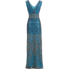 Jywal 1920s style evening dress in blue - Dresses -