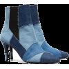 KALDA blue Caro 80 denim patchwork ankle - Buty wysokie -