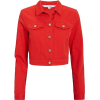 KARL KANI Red Embroidered Denim Crop Jac - Giacce e capotti -