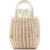 KAYU Tayla Canvas And Woven Straw Top Ha - Hand bag -