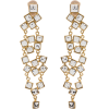 KENNETH JAY LANE gold-tone crystal drop - Earrings -