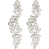 KENNETH JAY LANE silver-tone crystal dro - Earrings -