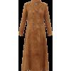 KHAITE Marge double-breasted suede coat - Jacket - coats -