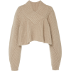 KHAITE cropped cashmere sweater - Puloverji -