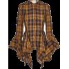 KHAITE plaid chiffon blouse - Shirts -