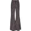 KHAITE plaid flared crepe pants - Uncategorized -