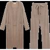 KNIT 3PC CASUAL PANTS SET (5 COLORS) - Suits - $36.97