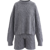 KNIT SWEATER AND POCKETS JOGGERS - Overall -