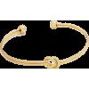 KNOT BRACELET CUFF BANGLE-GLD - Bracelets - $16.00