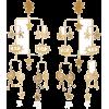 Kalmar Gold-Plated Brass Mobile Earring - Earrings -