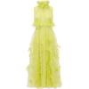Karea feather and beaded silk-organza go - Kleider -
