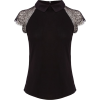 Karen Millen black lace top - Magliette -