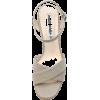 Karen White Cross Strap Sandal - サンダル -