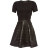 Karl Lagerfeld- Dress with leather skirt - Dresses - $495.00