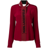 Karl Lagerfeld - Logo bow blouse - Srajce - dolge - $345.00  ~ 296.32€