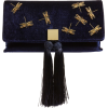 Kasia Beaded Dragonfly Velvet Clutch TED - Clutch bags -