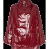 Kassl Button Down Patent Raincoat - Jacket - coats - $1,107.00