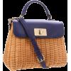 Kate Spade New York Delavan Terrace Little Nadine Shoulder Bag Natural/Dark Lapis - Bag - $398.00