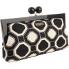 Kate Spade New York Octagonal Fabric Shyla PXRU3335 Clutch,Blac/Off White,One Size - Carteras tipo sobre - $243.88  ~ 209.46€