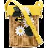 Kate Spade floral-appliqué straw bucket - Carteras -