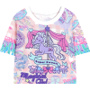 Kawaii Unicorn Crop Top - T-shirts -