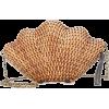 Kayu - Jane straw shell clutch - Torbe s kopčom -