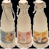 Kelloggs Vintage Glass Milk Juice bottle - ドリンク -
