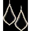 Kendra Scott Black Alexandra Earrings - Orecchine -