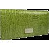 Kenneth Cole Reaction Flattered Moc Croc Checkbook Wallet Purple - Hand bag - $22.95