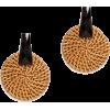 Kenneth Jay Lane Raffia Circle Earring - Aretes -
