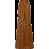 Khaite Bernadette Checked Wool Wide-Leg - Capri & Cropped -