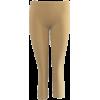 Khaki Beige Seamless Capri Leggings Three Quarter Length - Leggings - $5.90