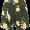 Khaki Floral Shorts - pantaloncini - $39.00  ~ 33.50€